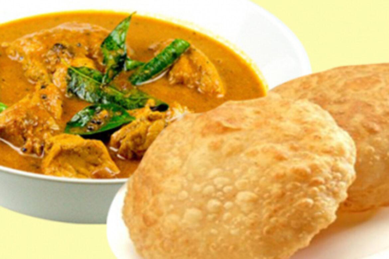Puri 2 & Chicken with Raitha