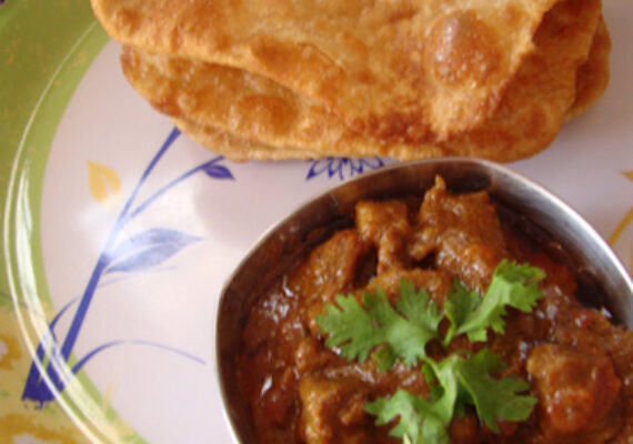 2 Puri and Lamb with Raita