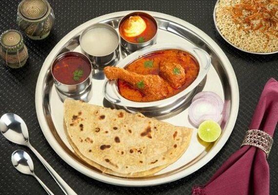 Thali with Chicken