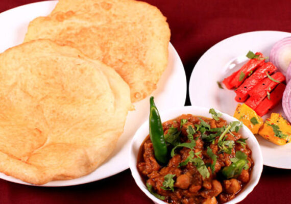 Puri and Veg with Raita