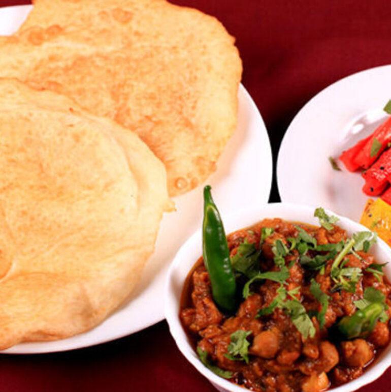 2 Puri and Veg with Raita