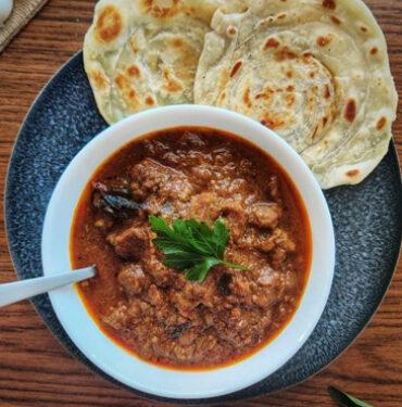 2 Malabar Paratha with Lamb Curry 1
