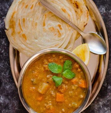2 Malabar Paratha with Veg