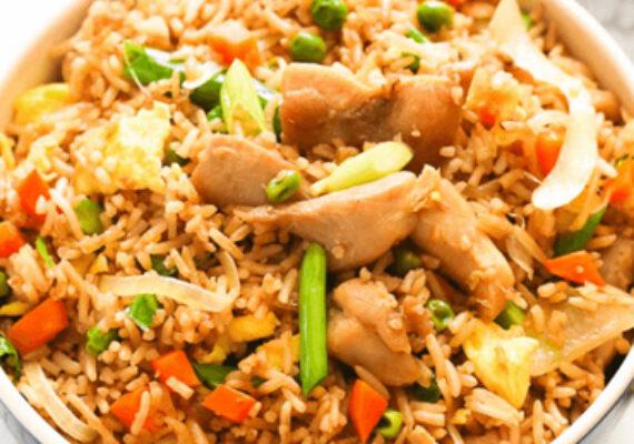 Mixed Fried Rice (Prawn, Egg & Chicken)